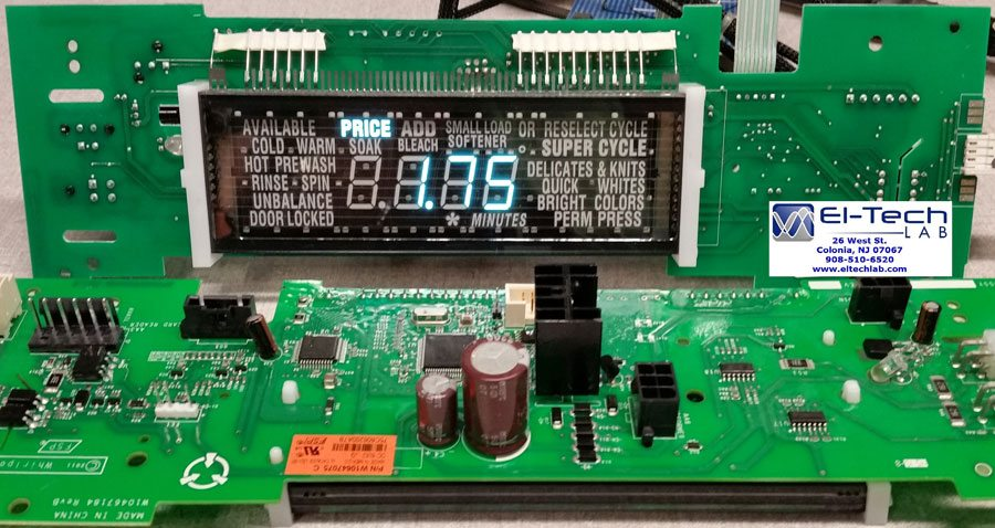 MAH22 Commercial Washer. User Interface (UI) Circuit Board
