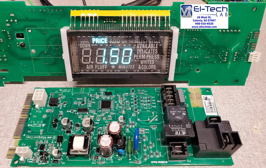Maytag / Whirlpool MDE20, MDE22, MDE25, MDE28, MDG20, MDG22, MDG25, MDG28 Dryer User Interface Circuit Board